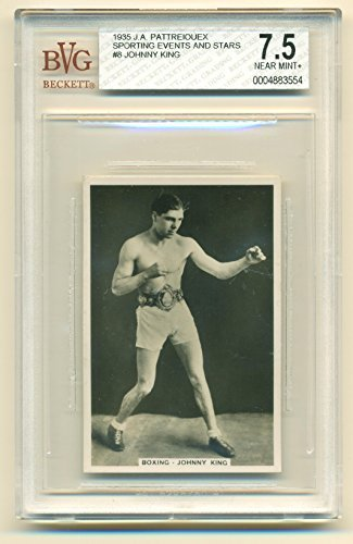 1935 J.A. Pattreiouex Johnny King #8 BVG 7.5 Near Mint+ Sporting Events and Star