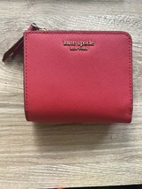 NWT Kate Spade Cameron Small L-Zip Bifold Wallet Red Leather - $38.00