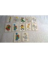 1964 Disney Character Trading Cards Regina Confections New Zealand 12 cards - $33.85