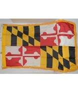 Valley Forge Maryland Flag With Pole Hem And Fringe Three By Five - $24.99