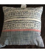 "THRESHOLD 18""x18"" Batik Square Throw Pillow Blue Pink New - $29.69"