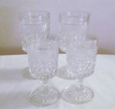Anchor Hocking Wexford Pedestal Juice & Wine Glasses - $8.00