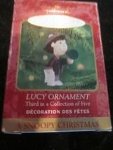 HALLMARK KEEPSAKE ORNAMENT A SNOOPY CHRISTMAS LUCY ORNAMENT BRAND NEW IN... - $9.99