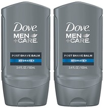 Dove Men+Care Post Shave Balm, Hydrate+, 3.4 Fl Oz, Pack of 2 image 1