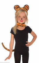 CHILD PLUSH TIGER SET EARS BOW TIE TAIL KIDS HALLOWEEN COSTUME ACCESSORY... - $5.79