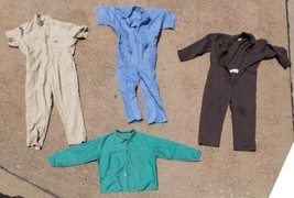 Lot of 4 Industrial Shirts Overalls etc. Halloween Costume dq - $24.74