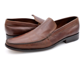 Cole Haan Mens 10M Brown Leather Slip On Moc Toe Dress Loafer Shoes 04551 - $39.99