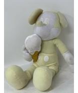 Disney SEGA Plush Mickey Mouse Yellow White Stuffed Animal Prize Ice Cre... - $10.99