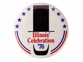 FREE SHIP: Vintage Illinois Bicentennial 1976 Pinback Button - Celebrati... - $8.15