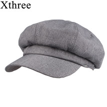 Xthree Fashion solid cotton lined Newsboy Caps for Women Spring Summer H... - $11.80