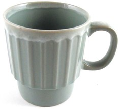 Blue Drip Glaze Pottery Stackable Coffee Cup Mug Made in Japan Vintage - $4.00