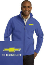 Chevrolet Royal Blue Embroidered Port Authority Core Soft Shell Unisex J... - $39.99