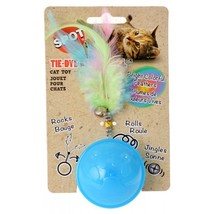Spot Tie Dye Roller Ball Cat Toy - Assorted Colors - £4.62 GBP