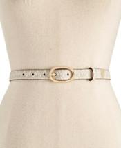 Michael Kors Signature Skinny Belt (Vanilla/Gold, XL) - $47.52