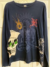 Don Ed Hardy Womens Long Sleeve Graphic T Shirt Medium - $28.99