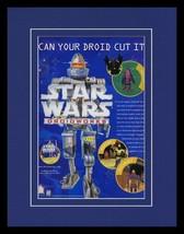 1999 Star Wars Droidworks 11x14 Framed ORIGINAL Vintage Advertisement - $32.36