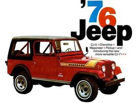 1976 Jeep Line - Promotional Advertising Poster - $9.99+
