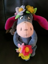 "Disney Winnie the Pooh FLOWER POWER EEYORE 9"" Bean Bag STUFFED ANIMAL To... - $14.80"