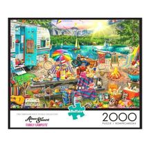 2000 Piece Jigsaw Puzzle Buffalo Games 38 in x 26 in, Family Campsite - NEW - $31.30