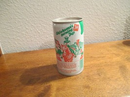 Oklahoma OK Turning 7up vintage pop soda metal can Glass Mountains - $10.99