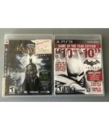 Batman: Arkham Asylum & Batman: Arkham City [Game Of The Year] (PlayStat... - $10.22