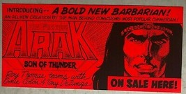 "ARAK, SON OF THUNDER 3-1/2"" x 7-1/2"" promotional bumper sticker (1981) D... - $9.89"