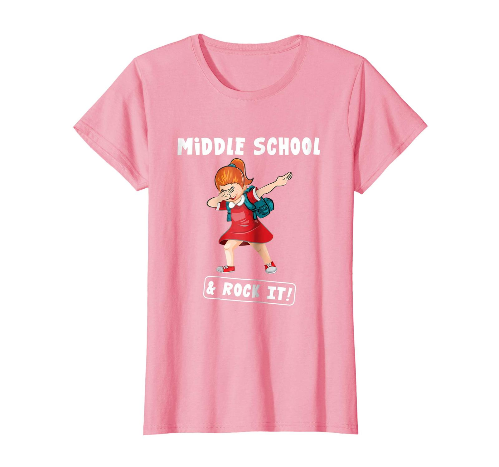 Brother Shirts - Girl Dabbing First Day Of Middle School And Rock It! Shirt Wowe