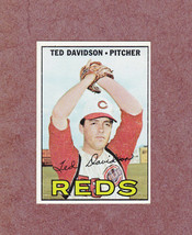 1967 Topps # 519 Ted Davidson Cincinnati Reds Nice Card - $3.99