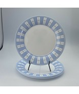 Martha Stewart Everyday Blue White Garden Trellis France Dinner Plates (... - $14.84