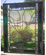 Custom Family Tree Stained Glass Window Panel personalized with your family - $197.00