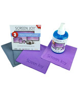 Screen Joy Computer Screen Cleaning Kit + 3 Pack Premium Microfiber Cloths - $21.99