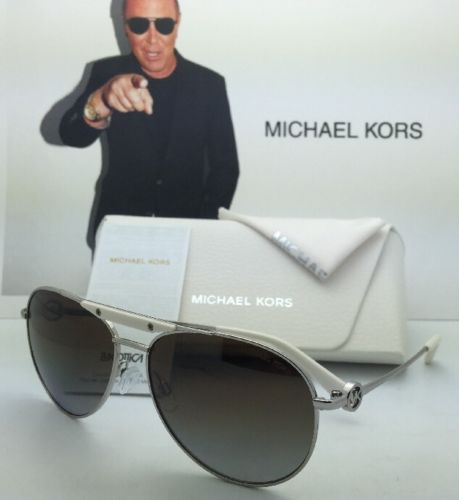 7166374b5b 12. 12. Previous. Polarized MICHAEL KORS Sunglasses ZANZIBAR MK5001 1001T5  Silver w Brown Gradient