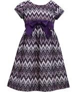 Little Girl Metallic Flamestitch Lace Social Party Dress - $38.95