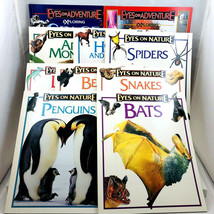 Eyes on Adventure Nature 10 Books Space Spiders Bears Snakes Lizards Bat... - $14.84