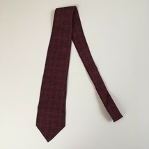 "Giorgio Armani Red Circle Pattern Pure Silk Made In Italy 57.5x3.25"" Tie - $29.70"
