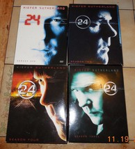 24 DVD SEASONs 1-4 Lot CBS - $74.80