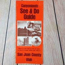 Vtg Travel Guide Brochure San Juan County Utah Canyonlands 1970's 80's T... - $11.65