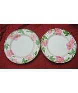 """2 FRANCISCAN DESERT ROSE 10-5/8"""" DINNER PLATES ENGLAND - $15.20"""