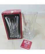 RCR Royal Crystal Rock Cristallo Al Piombo 24% Lead Vase Italy New Old S... - $47.51