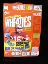 General Mills Whole Grain Wheaties Cereal Box Flat Joe Montana Football ... - $16.99