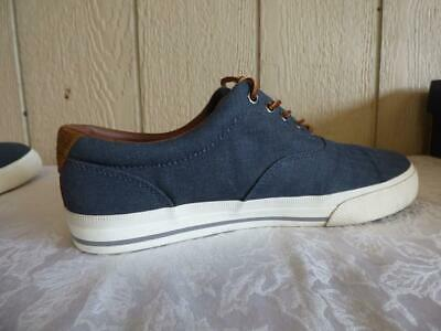 Polo Ralph Lauren Vaughn Sneakers, Denim, Herringbone Chambray, US 10, D- used