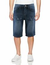 LR Scoop Men's Casual Distressed Slim Fit Jean Denim Shorts w/Defect 32 image 1
