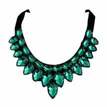 [Green Drops] Women Acrylic Choker Necklace False Collar Removable Fake Collar