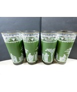 VTG Wedgwood Jasperware Hellenic Jeanette Green Greek Drinking Glasses S... - $39.60