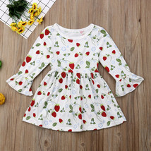 NWT Strawberry Girls White Ruffle Long Sleeve Dress 2T 3T 4T5T - $10.99