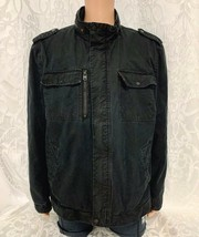 Mens Levis Jacket Sherpa Lined Black Cotton Shell Trucker Military Sz  X... - $62.99