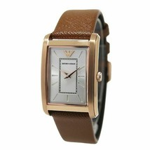 NEW EMPORIO ARMANI LADIES AR1872 CLASSIC WATCH SQUARE LEATHER STRAP - $119.99