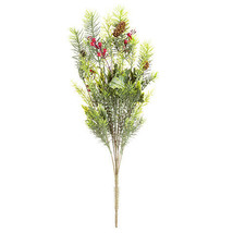 Darice Christmas Pine and Holly Bush: 10 x 24 inches w - $12.99