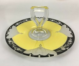 "Westmoreland Jonquil Handled Luncheon Tray Center Handle Server Glass 10.5"" Deco - $73.01"