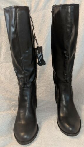 Arizona Jeans Co. Black Knee High Synthetic Boots Size 6 1/2 M